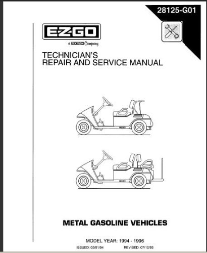 ezgo txt parts and service manual free download