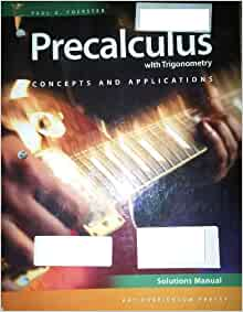 precalculus with trigonometry solutions manual