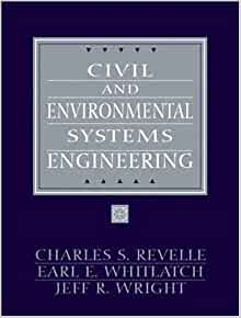 civil and environmental systems engineering revelle solution manual
