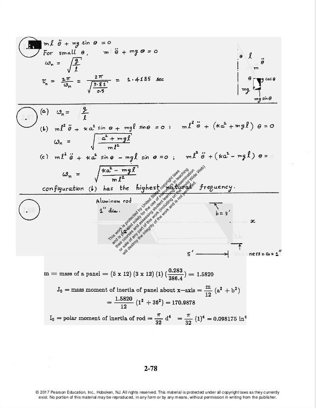 mechanical vibrations 6th edition solution manual