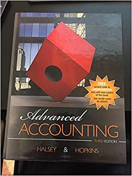 solution manual for advanced finanical accounting halsey 3rd edition