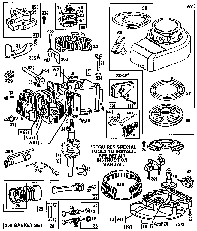 briggs and stratton 450 series parts manual