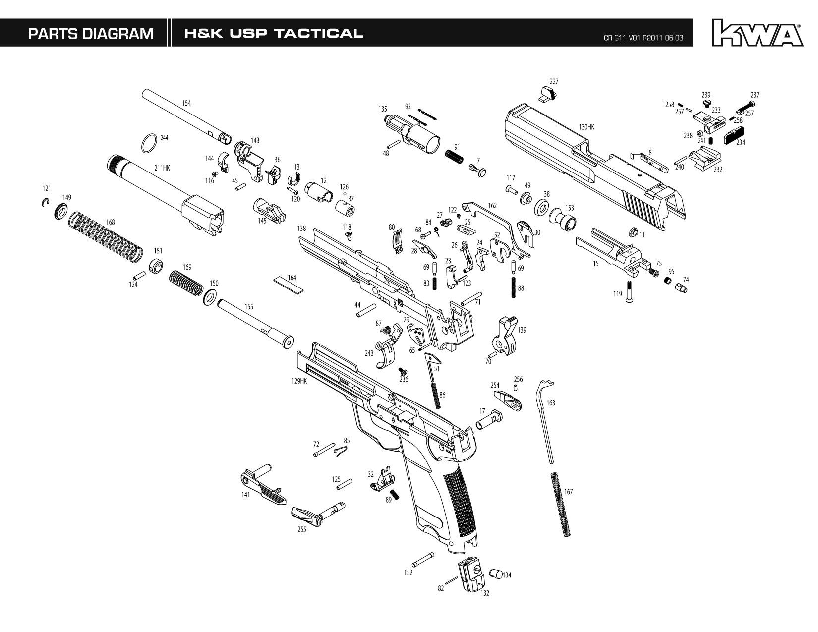 manual elite screen parts exploded view