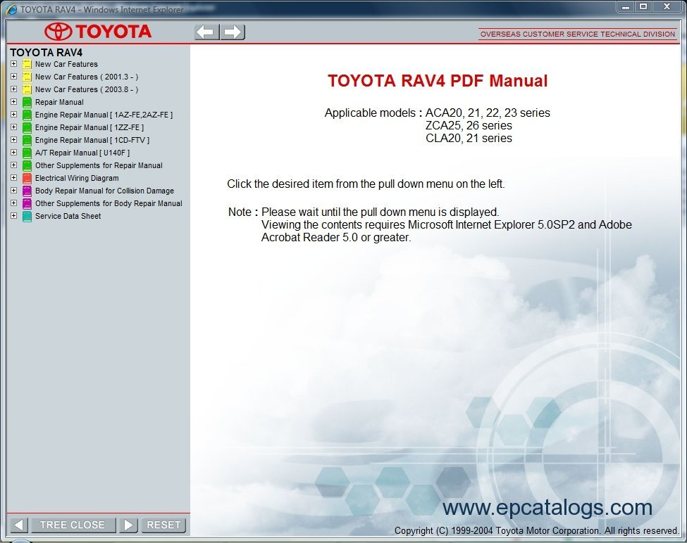 manual de partes toyota rav4