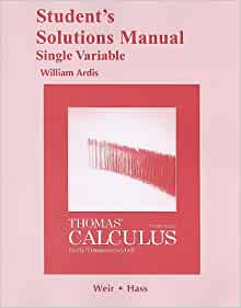 thomas calculus 12th edition solution manual