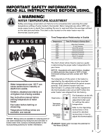 ge water heater parts manual