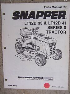 lawn tractor 1525 series parts manual