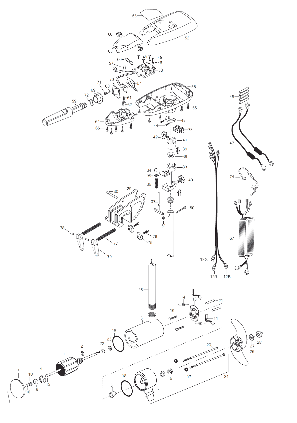parts manual for minn kota riptide 101